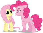 Fluttershy and Pinkie