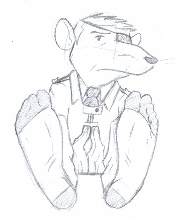 WPD: Resting Army Rat In Socks by thecruelseasons