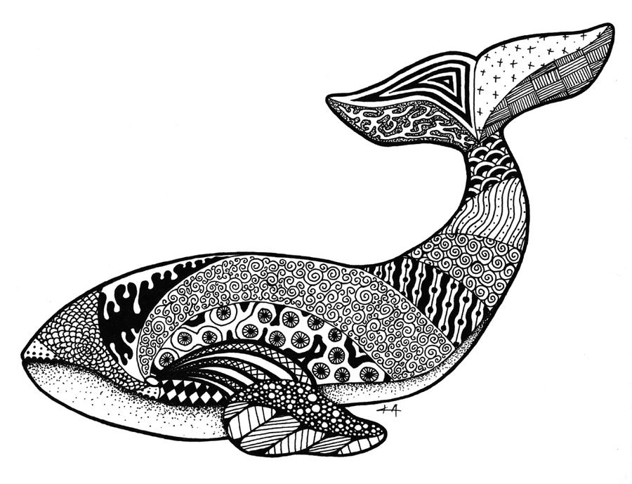 Zentangle Whale By Crazy alchemist On DeviantArt