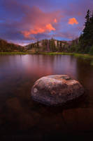Sunset Over the Unnamed Lake by Jacob-Routzahn