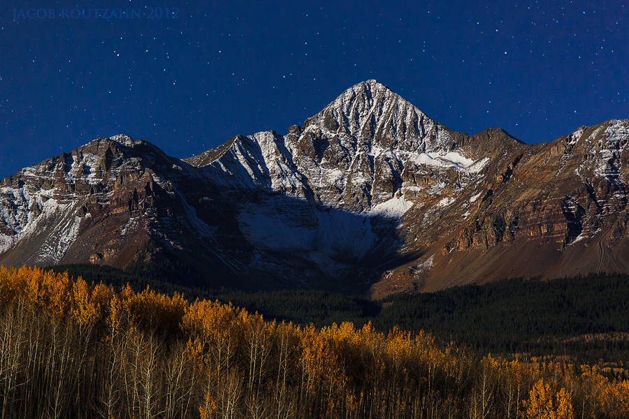 Night Falls Over Wilson Peak by Jacob-Routzahn