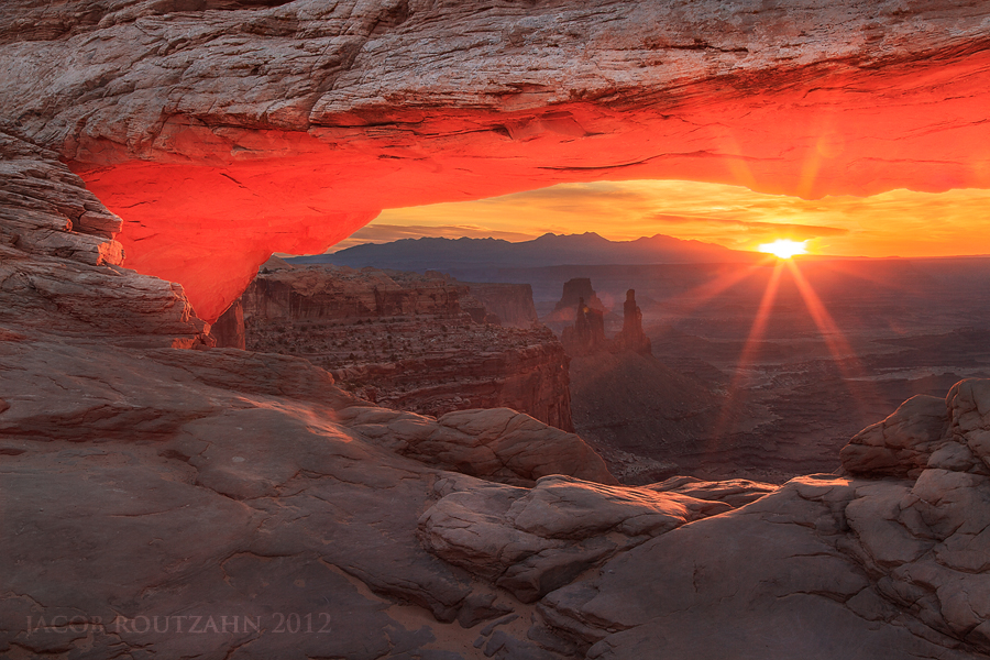 First Light At Mesa Arch by Jacob-Routzahn