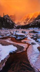 Sunrise Over Dream Lake by Jacob-Routzahn