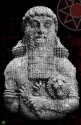 Gilgamesh Text Art by Pixel Viruz