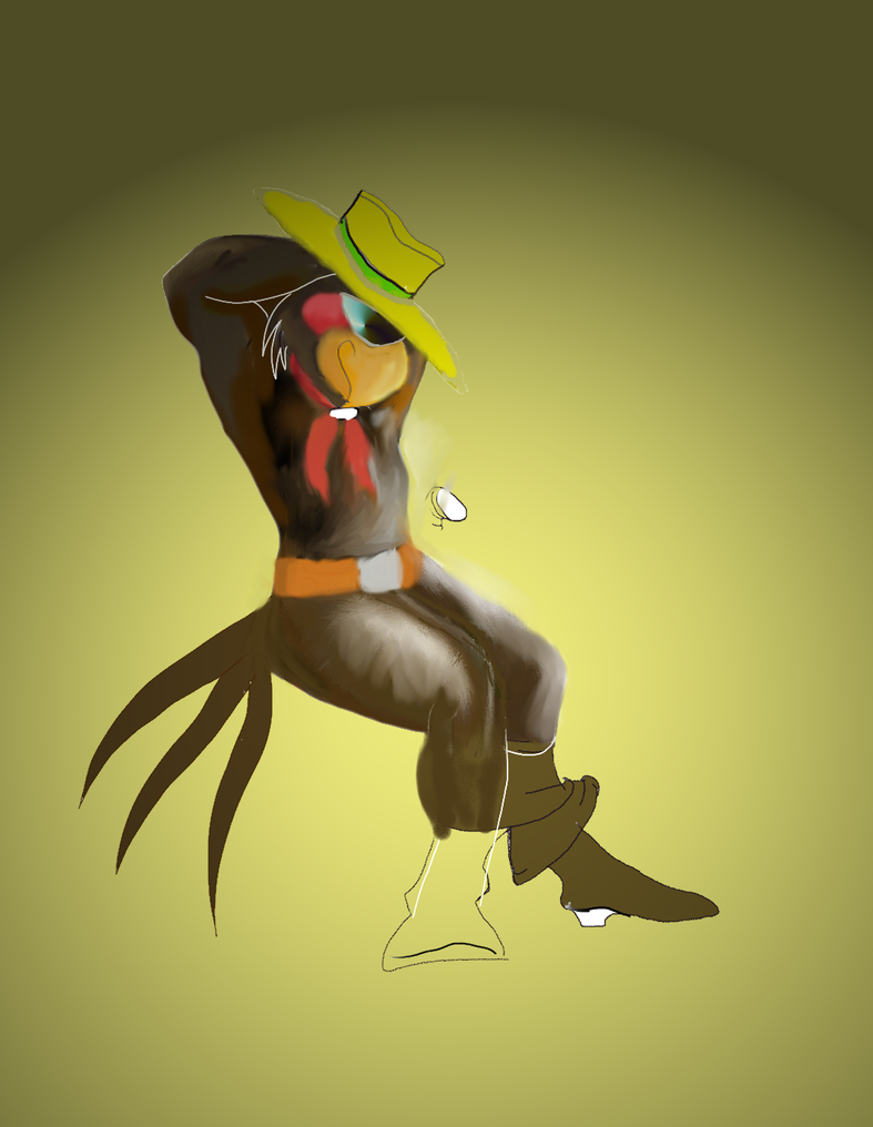 Jacobo, the black parrot - WIP by springheel