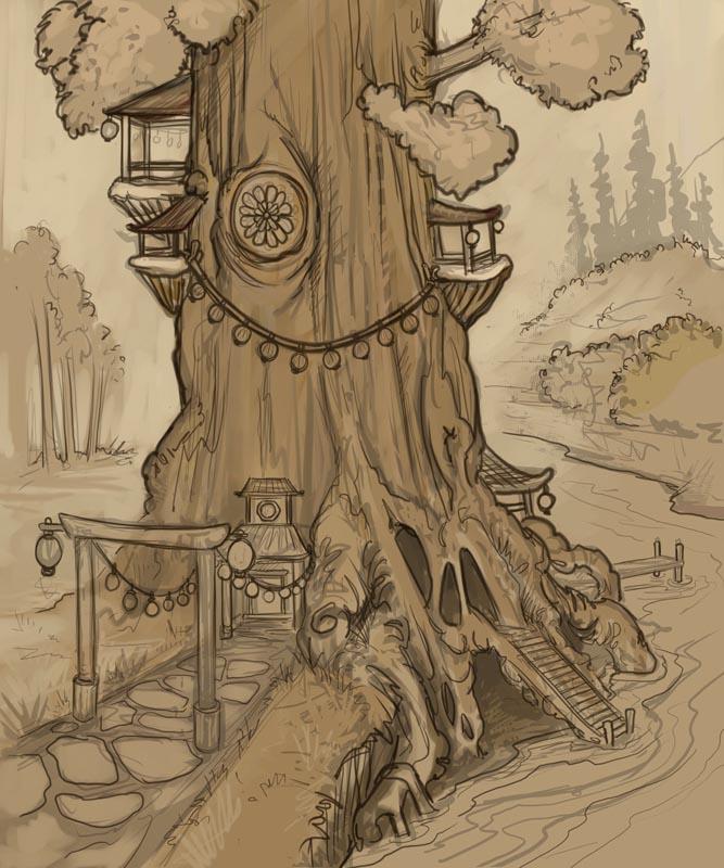 Brothel Tree Sketch
