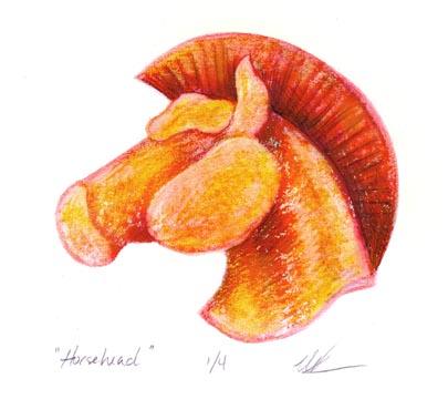 Horsehead Monoprint