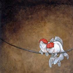 Orandas on a Wire by ursulav