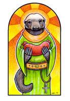 St. Mellivora and the Sausage by ursulav