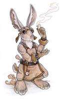 Steampunk Hare by ursulav