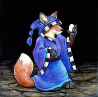 The Fox and the Egg by ursulav