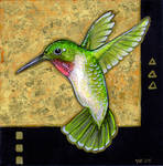 Klimt's Hummingbird II