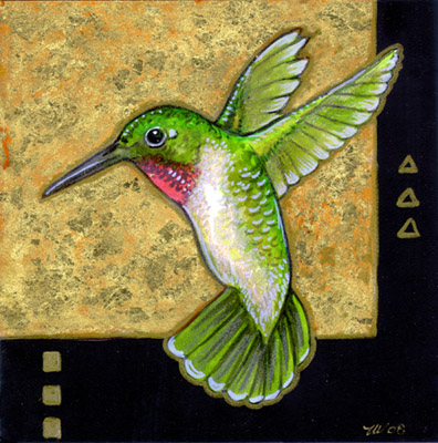 Klimt's Hummingbird II by ursulav