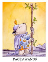 Wombat Tarot--Page of Wands by ursulav