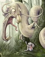 Sir Bunny Vs The Wockwurm by ursulav