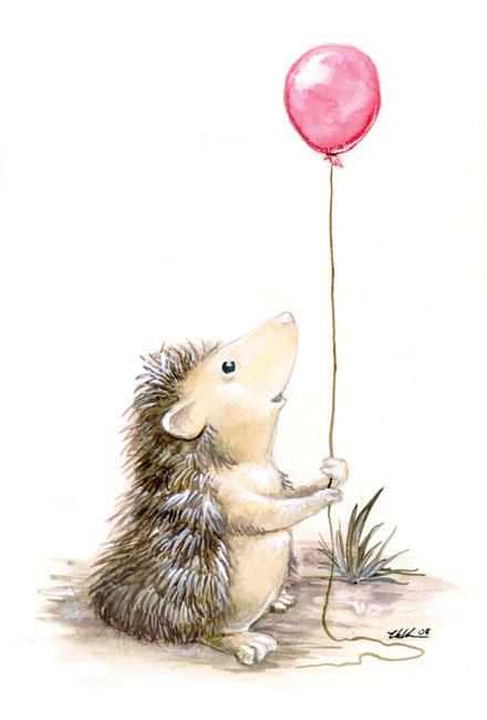 Grafika,crtež...  The_Hedgehog__s_Balloon