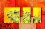 Iguana Triptych