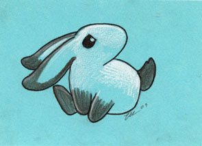 Grumpy Bunny by ursulav
