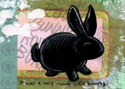 ACEO 6 - Black Bunny by ursulav