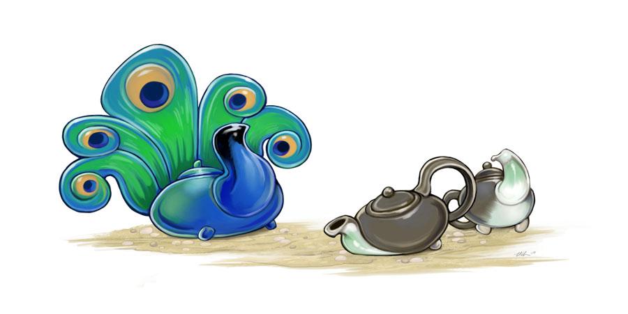 Teacocks by ursulav