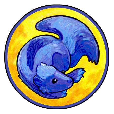 Blue Skunk by ursulav