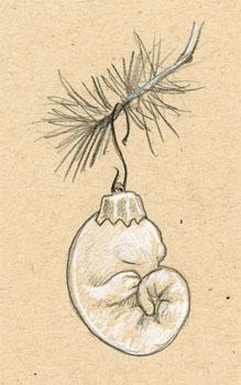 Fetal Christmas Ornament