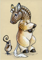 Quail and Quagga by ursulav