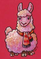 Scarf Llama by ursulav