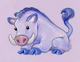 Wee Blue Boar by ursulav