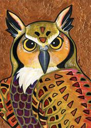 Klimt's Owl by ursulav