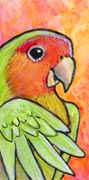 Teeny Tiny Lovebird by ursulav