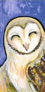 Teeny Happy Barn Owl by ursulav