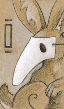 Plague Rabbit Doodle by ursulav