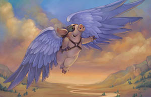 The Flight of Hamwings by ursulav