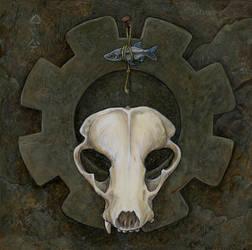 Gearworld Icon: Badger Skull by ursulav