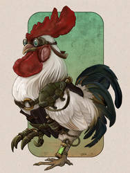Steampunk Rooster by ursulav