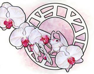Frog Nouveau: Orchids by ursulav