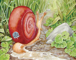 The Snail's Bumper Sticker by ursulav