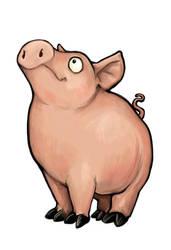 Pig Card Design by ursulav
