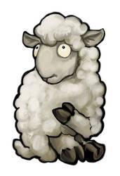 White Sheep Card Design by ursulav