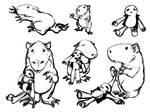Happy Little Capybara sketches