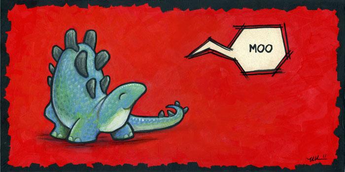Stegosaurus Says 'Moo' by ursulav