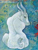 White Antelope by ursulav