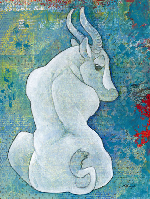 White Antelope by ursulav