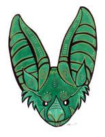Green Bat by ursulav