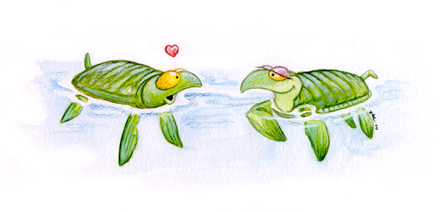Turtles in Love by ursulav