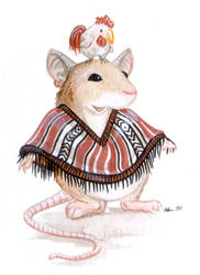 Mouse, Poncho, Chicken by ursulav