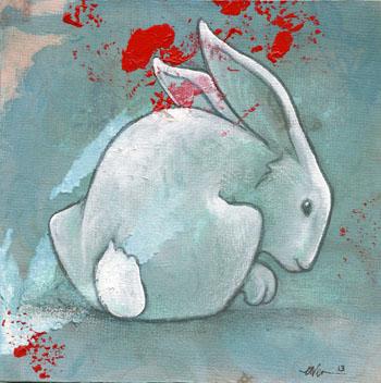 Slate Rabbit I by ursulav