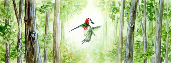 Hummingbird Hat by ursulav