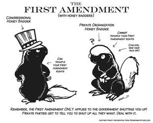 First Amendment Honey Badgers by ursulav